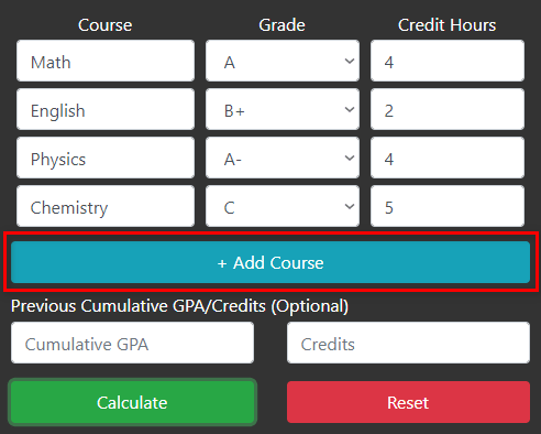 Add Courses